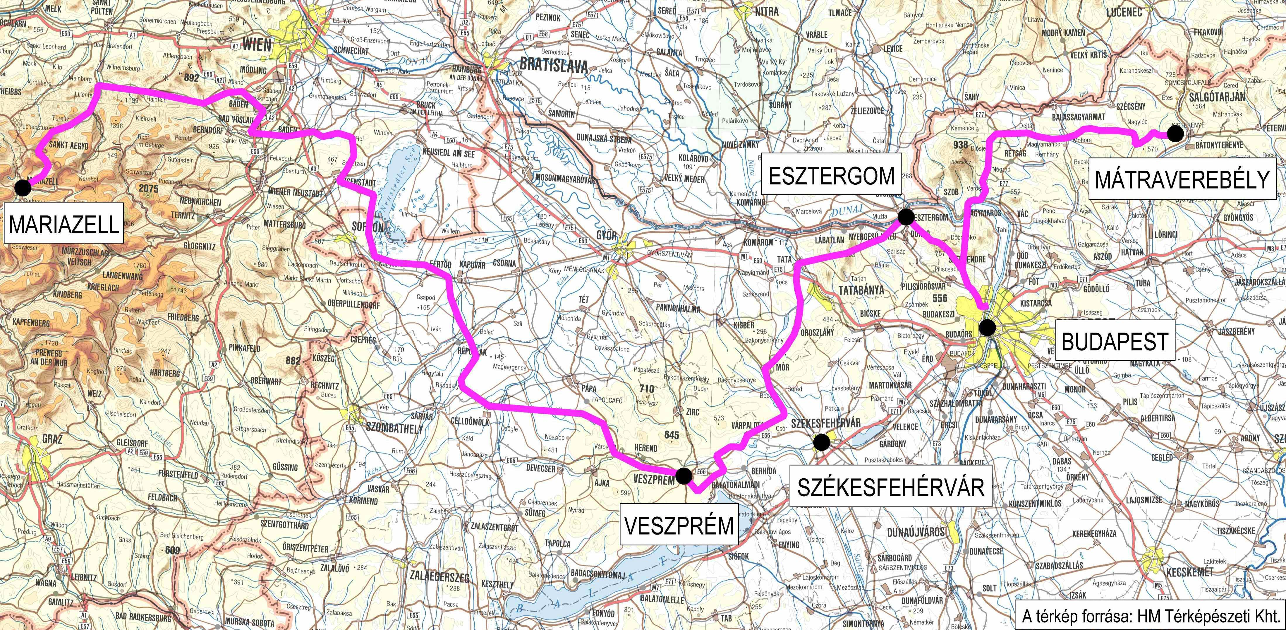 magyarország térkép hollókő Útvonal | ViaMargaritarum magyarország térkép hollókő